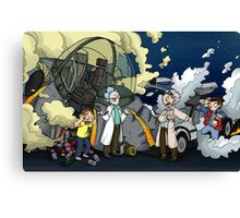 Back to the Future - Rick and Morty Canvas Print