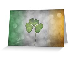 Glittering Shamrock Greeting Card