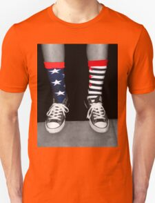 Patriotic Socks Unisex T-Shirt