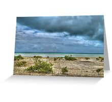 Storm over St Andrews Beach at Yamacraw in Nassau, The Bahamas Greeting Card