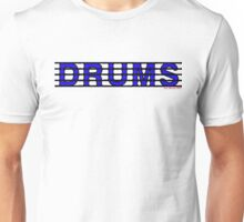 Drums Blue Unisex T-Shirt