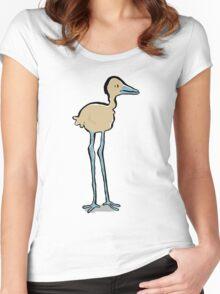 long legged bird Women's Fitted Scoop T-Shirt