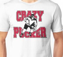Crazy Hockey Player Unisex T-Shirt