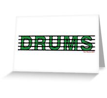 Drums Green Greeting Card