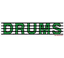 Drums Green Photographic Print