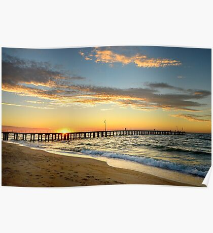 Dromana Pier at Sunset Poster