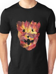 Autumn Leaves Leaf Mask Unisex T-Shirt