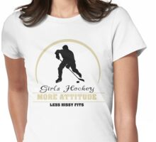 Girls Hockey Womens Fitted T-Shirt