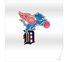 Detroit Sports Love Poster