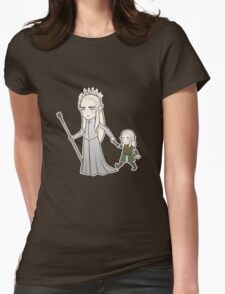 Papa Elf and Baby Leaf Womens Fitted T-Shirt