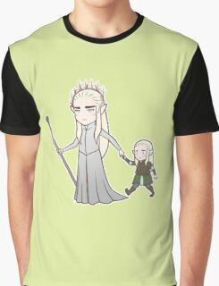 Papa Elf and Baby Leaf Graphic T-Shirt