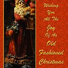 Old Fashioned Santa Christmas Card by Lois  Bryan