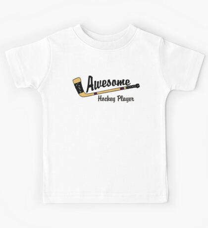 Awesome Hockey Player Kids Tee