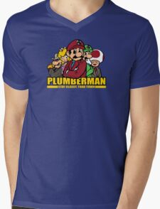 Plumber Man Mens V-Neck T-Shirt