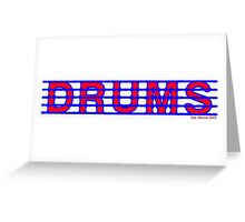 Drums Red and Blue Greeting Card