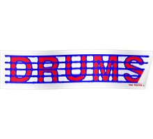 Drums Red and Blue Poster