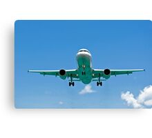 Air transportation: passenger airplane. Canvas Print