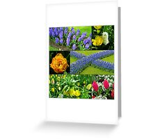 Keukenhof 'Blue Cross' Collage Greeting Card