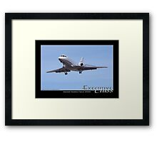 Executive Class Falcon 2000 Framed Print