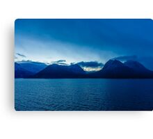 Norway Sea and Mountains Canvas Print