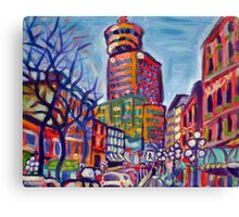 Harbour Centre From Gastown Canvas Print