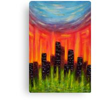 City of Fire Canvas Print