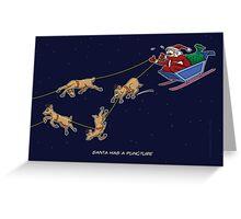 Santa Puncture Greeting Card