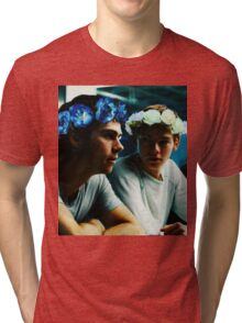 Newt and Thomas with Flowercrowns Tri-blend T-Shirt
