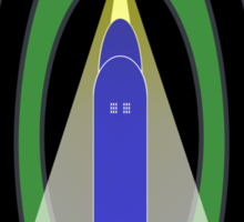 Visit Spacetime - Where Thrilling Adventures Await Sticker