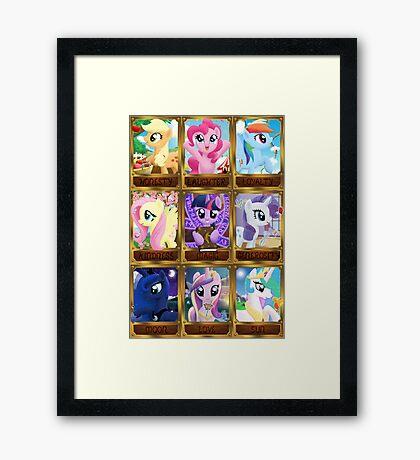 The Pony Elements Framed Print