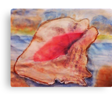 The Conch shell #2, watercolor Canvas Print