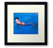 Tricia Helfer by Dennys Ilic Photography Framed Print