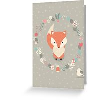 Christmas baby fox 02 Greeting Card