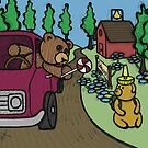 Teddy Bear And Bunny - The Abduction by Brett Gilbert