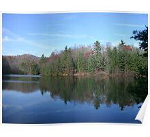 Very Pretty & Glassy Mountain Lake  Poster