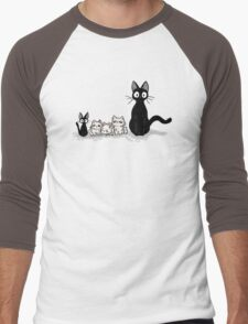 Jiji and kittens  Men's Baseball ¾ T-Shirt
