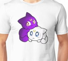 Luna and Artemis Kittens Sailor Moon Unisex T-Shirt