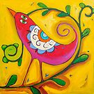 Sun on the Lovebird by ART PRINTS ONLINE         by artist SARA  CATENA