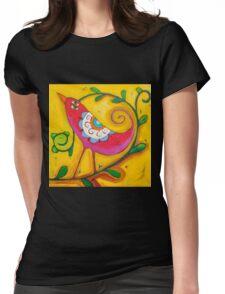 Sun on the Lovebird Womens Fitted T-Shirt