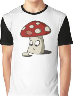 Confused Shroom  Graphic T-Shirt