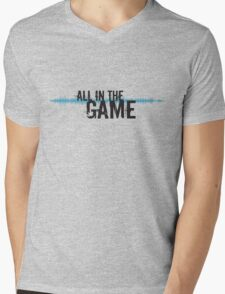 """All in the Game - """"The Wire"""" - Dark Mens V-Neck T-Shirt"""
