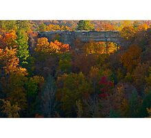Natural Bridge in Autumn Photographic Print