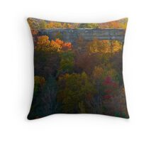 Natural Bridge in Autumn Throw Pillow