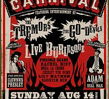 Psychobilly Burlesque Carnival Poster by deathray66