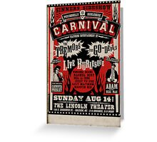 Psychobilly Burlesque Carnival Poster Greeting Card