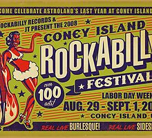 Coney Island Rockabilly Festival Poster by deathray66