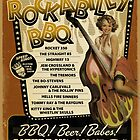 Rockabilly BBQ Poster by deathray66