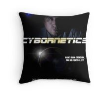 Cybornetics -Dark Future Movie Poster Throw Pillow