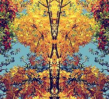 Autumn Totem Pole by Sharon Woerner