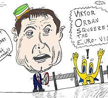 Viktor Orban political cartoon by Binary-Options
